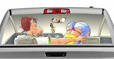 Truck Rear Window Decal Graphic [Search for Spare Change] 20x65in DC36502