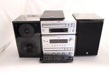 YAMAHA IMPIANTO STEREO crx-e300, 110 Watt, tape, cd, radio, Argento-Nero, buon Z
