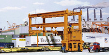 CONTAINER CRANE Mi-Jack Translift Intermodal 18x9cm HO 1/87 scale Walthers 3122