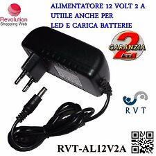 Alimentatore STABILIZZATO  per Telecamere e Strisce a LED e Caricatori 12V  2 A