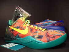 Nike ZOOM KOBE VIII 8 SYSTEM PREMIUM WHAT THE ORANGE BLUE GREEN 635438-800 DS 10