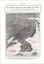1905 Japan Russia Territory Redrawn General Baron Kodama Kuroki Oyama Kamimura