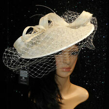 FAILSWORTH IVORY ASCOT WEDDING HAT DISC FASCINATOR MOTHER OF THE BRIDE