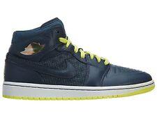 Air Jordan 1 Retro '97 Txt Mens 555071-445 Squadron Blue Yellow Shoes Size 11