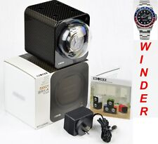 BOXY CARBON FIBRE LOOK Fancy Brick Automatic Watch Winder-1-FB-CF-F(starter set)