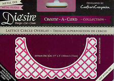 SALE: Die'sire Crafters Companion Lattice Circle Overlay Die for Accordian die