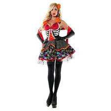Lady DEAD BEAUTY Costume Sexy Skeleton Skull Ringmistress Dress Adult Small 2 4