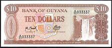 1992 Guyana $10 DOLLARI BANCONOTA * a/23 033337 * UNC * p-23f *
