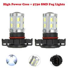 2 x 1200 Lumen White PSX24W 2504 12276 Cree Led 2014 Fog Driving Light Bulb