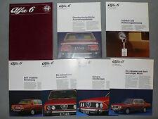 Prospekt Alfa Romeo 6 Vergaser Modell zur Premiere, 3.1979, Mappe mit 6 x 4-8 S.