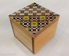 Japanese wood mosaic Yosegi Kobako Small Cube Box Hakone handmade-Brand NEW