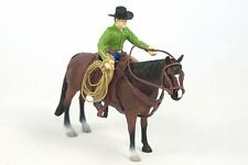 Big Country Toys Roper Cowboy with horse, saddle rope and tack.