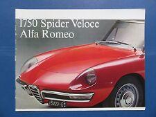 1968/69 Alfa Romeo 1750 Spider Veloce Sales Brochure (691A23R)