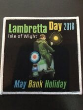 Lambretta Day 2016 Sew On Patch Collectable BN Mod Scooter Isle Of Wight
