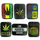 Assorted Marijuana Leaf Cannabis Design Tobacco Stash Box Tin Cigarette Airtight