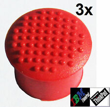 ☛ CLASSIC DOME 3 x trackpoint mouse red cap button Lenovo X220 X61 T60 T61 X201