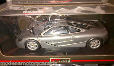 McLAREN F1 GRAY 1:18 BY UT MODELS VERY RARE DISCONTINUED NEW IN BOX