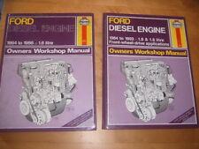 FORD DIESEL ENGINE WORKSHOP MANUALS X 2 by Haynes