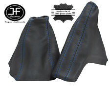 BLUE STITCH FOR OPEL VAUXHALL ASTRA TWINTOP 2005-2010 GAITERS DARK GREY LEATHER