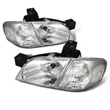 Fit 1997-2005 Pontiac Montana Chevy Venture Chrome Headlights Pair