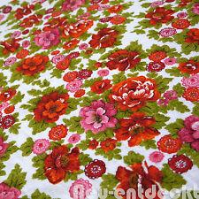 Stoff Stoffrest 70er 170 x 120 fabric vintage Frottee retro Vorhang Blume 1768