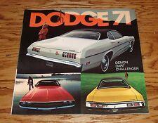 Original 1971 Dodge Demon Dart Challenger Sales Brochure 71