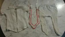 Vintage Baby's Sweater Bib And Stockings
