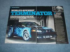 "2003 Ford Mustang Cobra Drag Car Article ""World's Quickest Terminator"""
