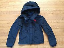 NEW ABERCROMBIE KIDS ALL SEASON WEATHER WARRIOR NAVY JACKET SIZE XL
