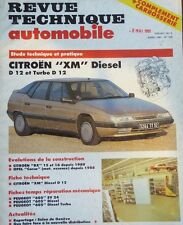 Revue technique CITROEN XM DIESEL D12 + TURBO D 12 N° 526 1991 +BX + OPEL CORSA