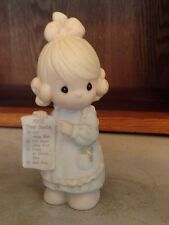 Vintage Precious Moments-1992 Dear Santa Wish List  (no box)  EUC