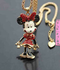 D651#3R   Betsey Johnson  Shining crystal enamel  Beauty rat  Pendant  Necklace
