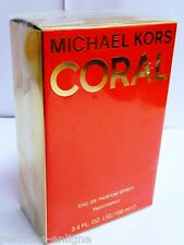 Michael Kors Coral Perfume 100ml 3.4 Oz Edp For Women Brand New & Sealed 100% OR