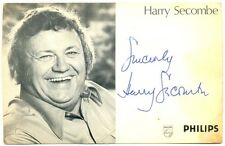 Harry Secombe autograph signed postcard 1970s Welsh Comedian The Goon Show Goons