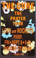 THE CURE/LOVE AND ROCKETS/PIXIES Original Promo Concert Poster 89 Dodger Stadium