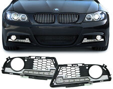 FOG LIGHT COVERS WITH DRL DAYTIME RUNNING LIGHTS FOR BMW E90 & E91 3 SERIES