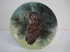 BRADEX KNOWLES CLASS THE STATELY OWLS SERIES THE SAW-WHET OWL PLATE