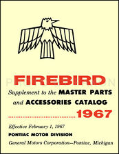1967 Pontiac Firebird Illustrated Parts Book Catalog with Part Numbers