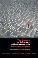 The Known, the Unknown, and the Unknowable in Financial Risk Management: Measur