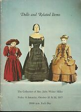 RICHARD BOURNE RARE DOLLS RELATED ITEMS Miller Collection Auction Catalog 1977