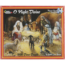 White Mountain Puzzles O Night Divine Nativity - 1000 Piece Jigsaw Puzzle
