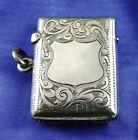 Antique HALLMARKED CHESTER Silver Vesta Case Match Striker 1904: HC & S LTD (28)