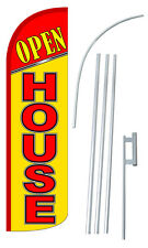 30% Wider SUPER SWOOPER OPEN HOUSE Feather Flag Sign Blade Banner
