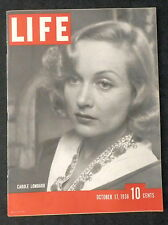 LIFE Magazine October 17, 1938 COCA-COLA - CAROLE LOMBARD - WAR - SEX HORMONES