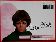 The women of the avengers-isla blair, mariée-variante #1 autographe carte, waib