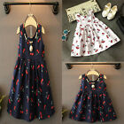 Girl Summer Flower Princess Dress Kid Baby Party Wedding Pageant Dresses Clothes