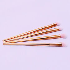 4pcs in Set Professional Makeup Brush Metal Powder Eye Shadow Cheek Rose Gold