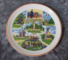 COLLECTORS PLATE FROM GETTYSBURG PA WITH CIVIL WAR MONUMENTS