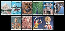 Japan 2990a-j Japan India Friendship Year  [10  USED Stamps, SINGLES]