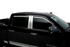 Chrome Trim Window Visors Fits 2015-2017 Chevy Silverado LD/HD Front Window Set